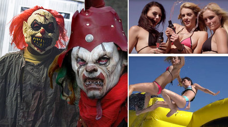 Vraždící klauni děsí svět! A když si holky hrají s lubrikantem...