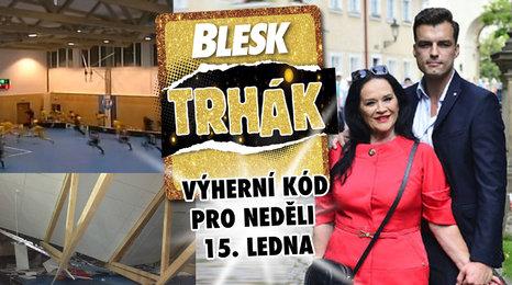 Pád střechy v České Třebové. Gregorová se může vdát! A nedělní kód Trháku!