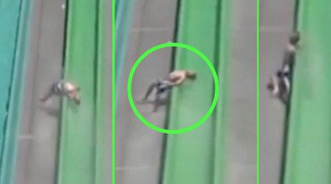Děsivé záběry: Desetiletý chlapec vypadl za jízdy z tobogánu