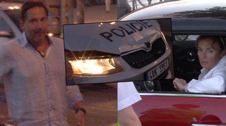Autonehoda Munzarové a Trnavského: Byl zraněn policista!