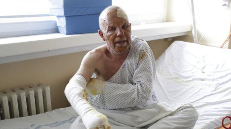 """Výbuch domku na Mělnicku: """"Za pár minut bych byl mrtvý,"""" říká"""