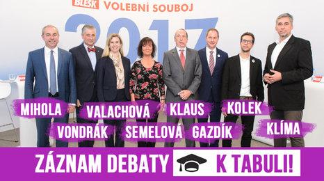 Záznam debaty o školství: Ostrá hádka Klause a Valachové o postižených dětech a sliby o platech učitelů