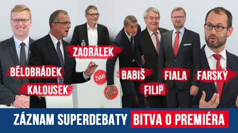 Superdebata Blesku: 7 hlavních lídrů se grilovalo navzájem