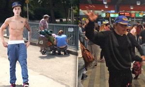 Justin Bieber vyděsil lidi v pražské Stromovce! A bezdomovci roztančili metro