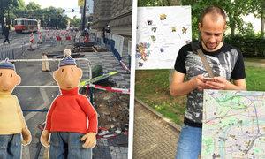 Mapy, kde najdete chybějící Pokémony! A oprava chodníku alá Pat a Mat ničí desítky tisíc řidičů