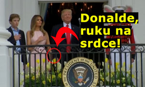 To je TRUMPas! Do prezidenta USA musela drcnout první dáma během hymny