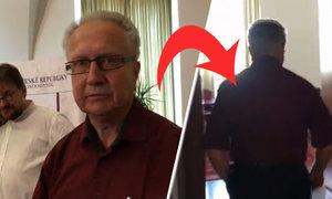 Kauza senátního absentéra Čuby: Jeho šéf Veleba utekl z tiskovky