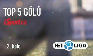 TOP 5 gólů 2. kola: parády v Ďolíčku a Olomouci, nechybí ani klaun Ljevakovič