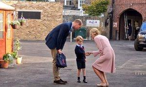 Prince George jde poprvé do školy