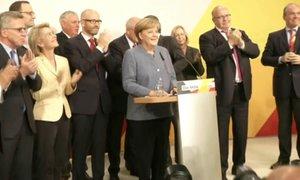 První projev Merkelové po volbách: Doufali jsem v lepší výsledek