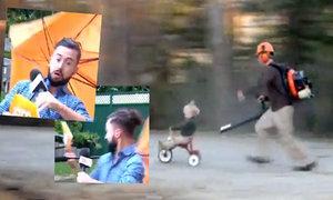 Trapas moderátora počasí! A jak zabavit dítě s fukarem na listí?