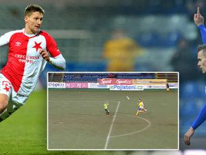 TOP 5 gólů 16. kola: Škodův přesný lob i Fabiánův krásný volej
