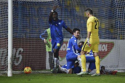Fotbalisté Liberce slaví gól do sítě Sparty