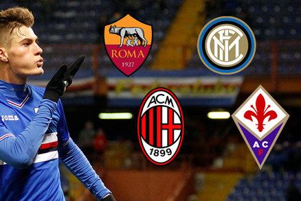 Sampdoria odmítla obrovské nabídky za Patrika Schicka