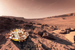 Ilustrace modulu EDM po říjnovém vysazení na Mars