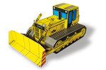 Vystřihovánka buldozeru