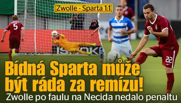 Sparta veze jen remízu 1:1, spasil ji Krejčí a Bičík