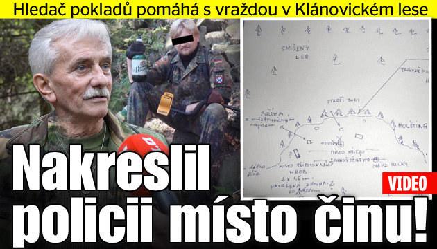 Hledač pokladů nakreslil policii místo činu!