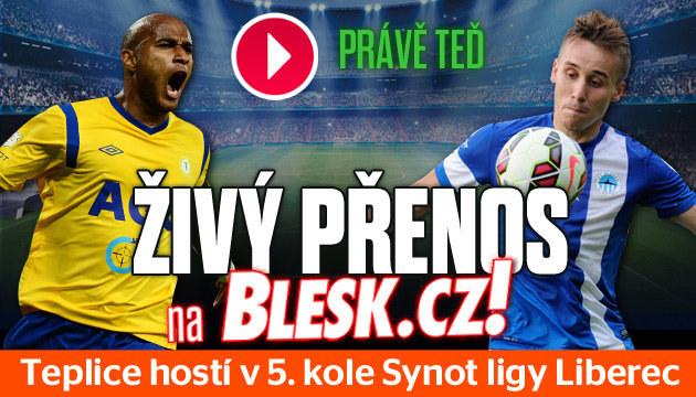 Sledujte zápas Teplice - Liberec v přímém přenosu