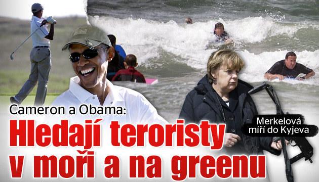 Cameron a Obama si užívají dovolené