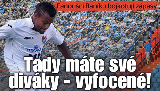 Fanoušci Baníku Ostrava bojkotují domácí zápasy