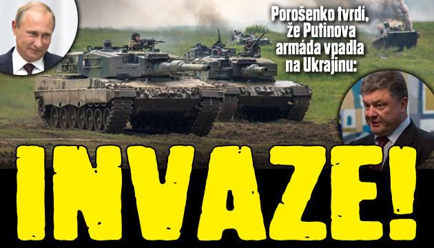 Ukrajinský prezident: Putin zahájil invazi!