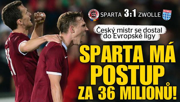 Sparta zvládla zápas o vše, Zvolle porazila 3:1