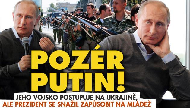 Putin se předváděl před mládeží