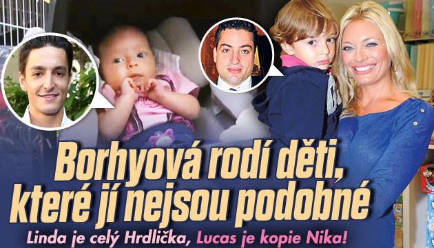 Děti Borhyové jsou více podobné otcům