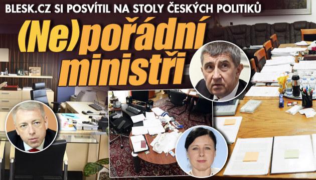 Kteří ministři mají na stole nepořádek?
