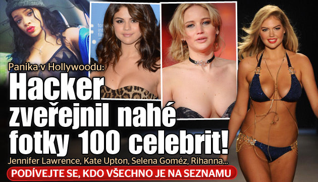 Hacker zveřejnil fotky nahých celebrit