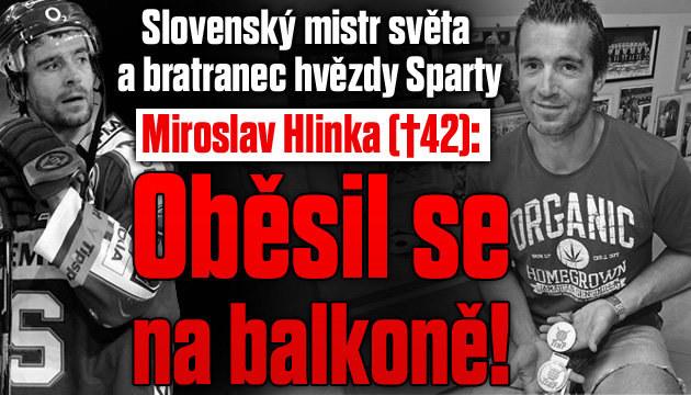 Česko-slovenský hokej v šoku ze smrti Hlinky