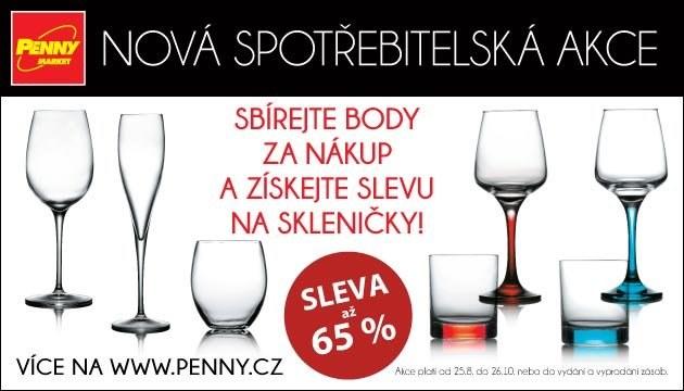 Luxusní skleničky v Penny