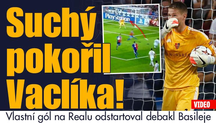 Made in Czech! Suchý dal vlastní gól Vaclíkovi