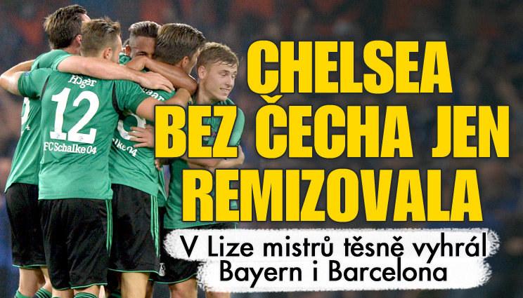 Čech opět seděl jen na střídačce, Chelsea - Schalke 1:1