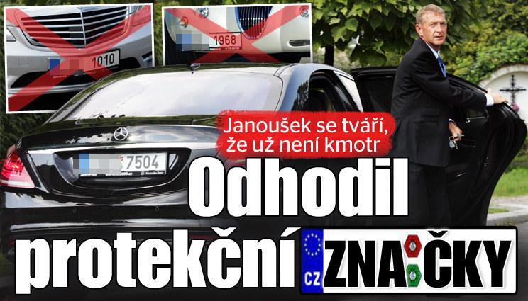 Janoušek odhodil protekční SPZ