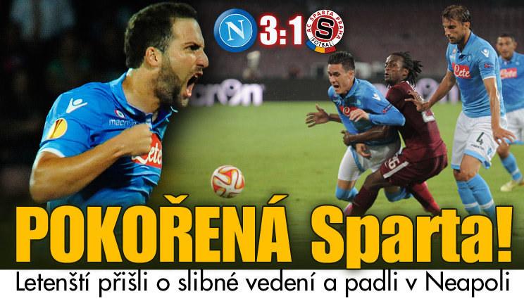 Pokořená Sparta! Letenští padli v Neapoli