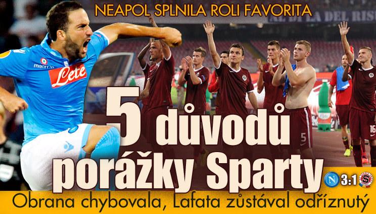 PĚT důvodů, proč Sparta prohrála v Neapoli