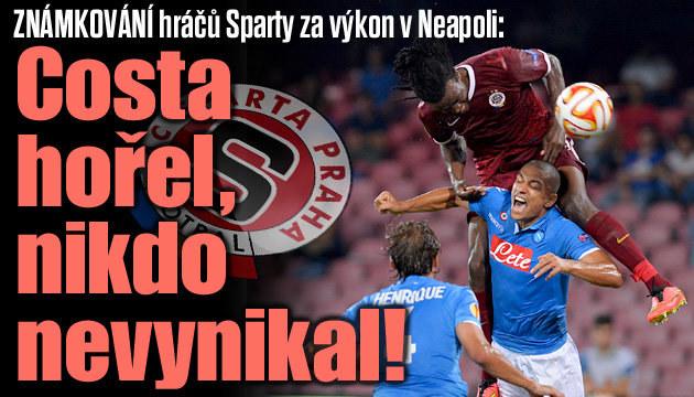 Jak si vedli fotbalisté Sparty v Neapoli?