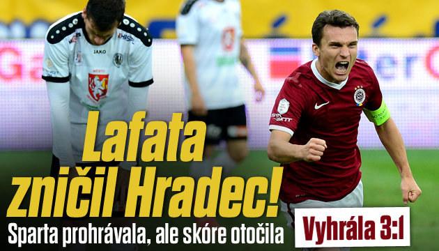 Lafatova jízda: DVA GÓLY! Sparta vyhrála 3:1