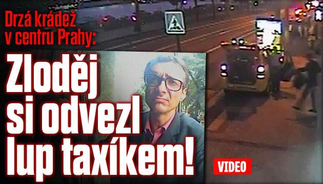 Drzá krádež: Zloděj odvezl lup taxíkem!