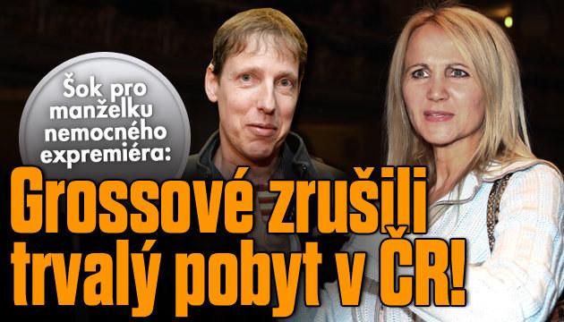 Grossové zrušili trvalý pobyt na území ČR