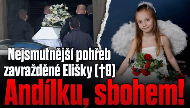 Pohřeb zavražděné Elišky: Andílku, sbohem!