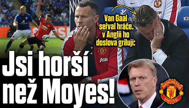 Kouč United Van Gaal je pod palbou kritiky