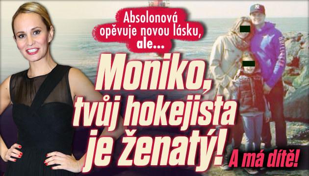 Hokejista Absolonové je ženatý a má dítě