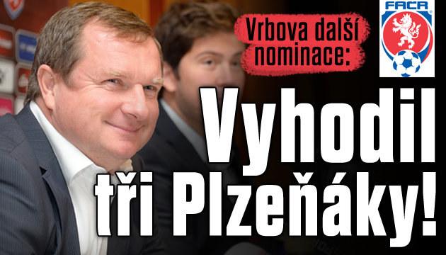 Vrba z další nominace vyhodil tři hráče Plzně