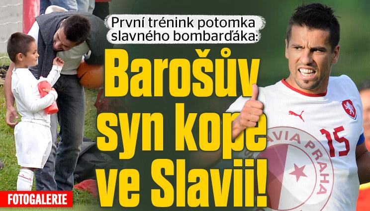 Baroš dovedl synka na trénink. Na Slavii!