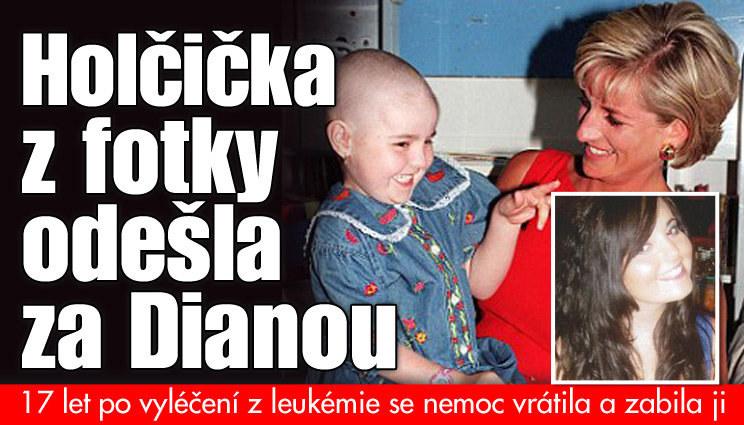 Nemocná se fotila s Dianou: Po 17 letech zemřela