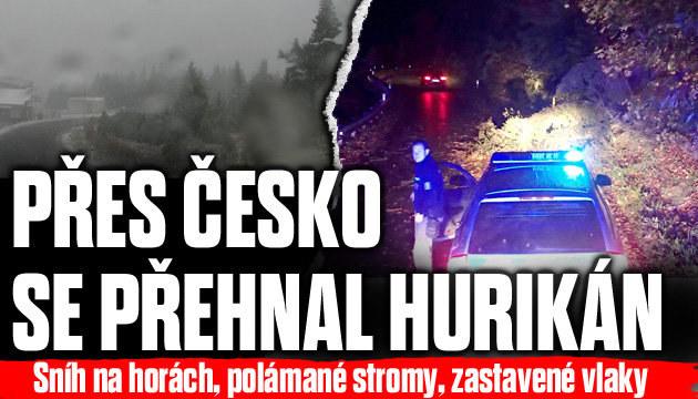 Přes Česko se přehnal hurikán