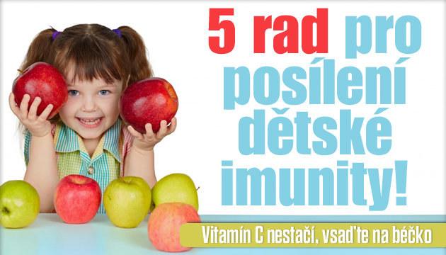 5 rad pro posílení dětské imunity